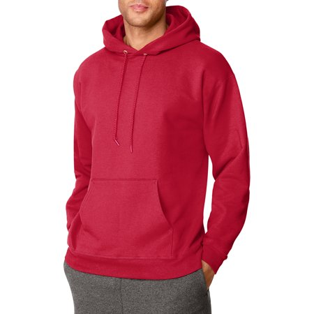 Hanes Mens Ultimate Cotton Pullover Hooded Sweatshirt - Deep Red S