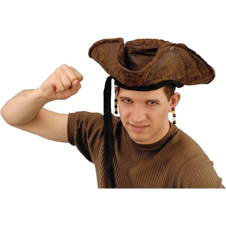Pirate Hat Distressed Adult Halloween Accessory