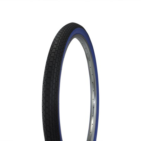 Fenix Beach Cruiser Tire 26in x 2.125in, Various Colors (Black/Blue) (Beach Tires)