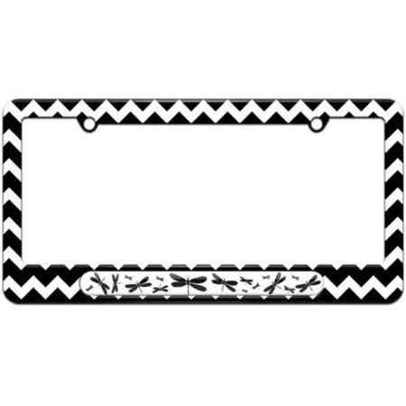 Dragonflies Black License Plate Tag Frame, Multiple Colors