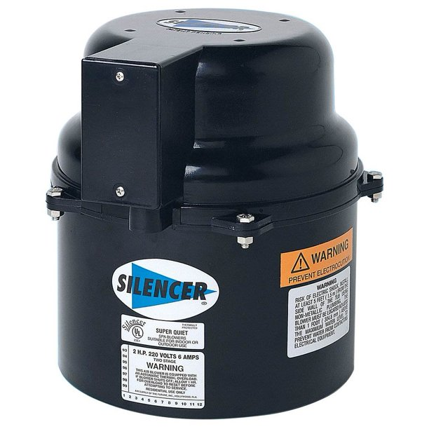 Air Supply 6320131 Silencer 2 Hp 120 Volt 9 Amp Outdoor Pool Spa Air Blower Walmart Com Walmart Com