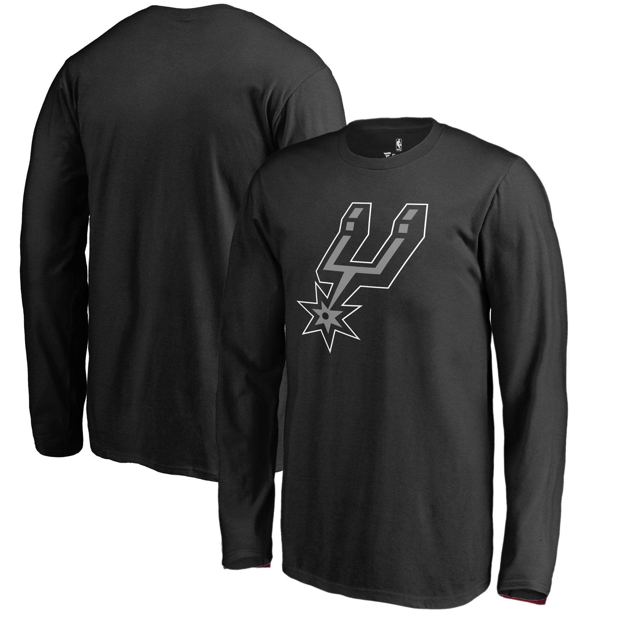 San Antonio Spurs Fanatics Branded Youth Primary Logo Long Sleeve T-Shirt - Black