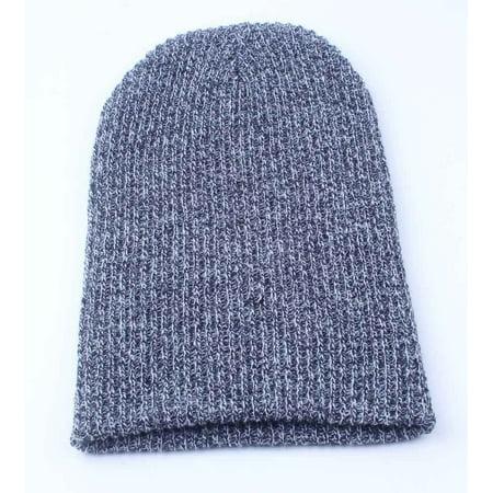 Mens Slouchy Beanie Oversize Knit Skull Cap Long Baggy Hat