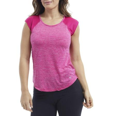 Raglan Performance Tee - Bally Women's Active Short Sleeve Scoopneck Raglan Performance T-Shirt