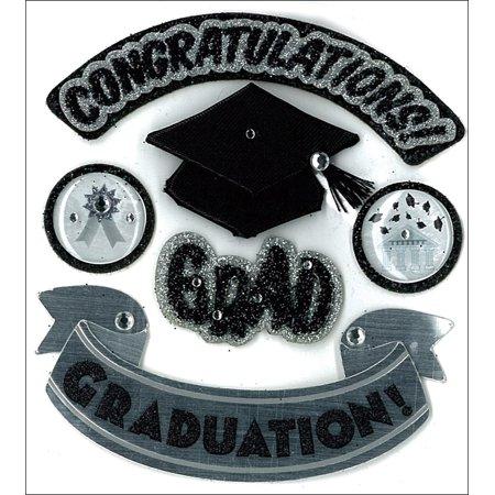 Jolee's Boutique Hats Off Grad Stickers, 6 Piece