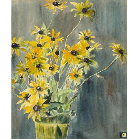 Vase with Blackeyed Susans Poster Print by Hannah Borger Overbeck