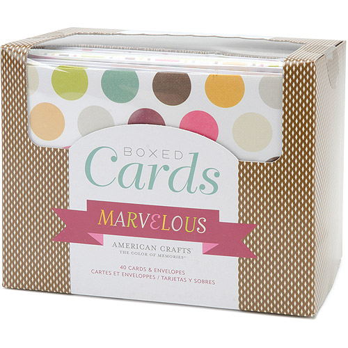 "American Crafts Marvelous Boxed Cards, 4"" x 6"", 40/pkg"