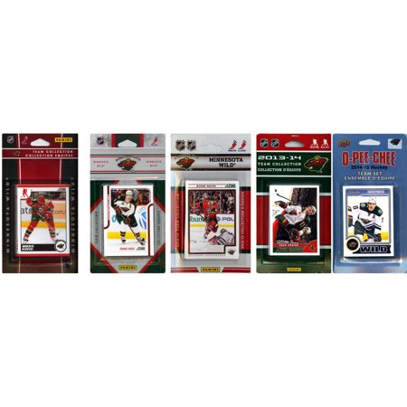 C&I Collectables NHL Minnesota Wild 5 Different Licensed Trading Card Team