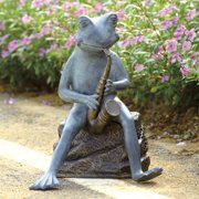 SPI Home Frog Bluesman with Bluetooth Speaker Garden Sculpture