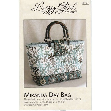 Miranda Day Bag Sewing Pattern Makes a 12 inch X 10 inch X 6 inch (10 Inch And 12 Inch Sew In)