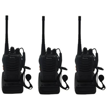 Blomiky 3 H_777 Two_Way Radio 3W Signal Band UHF 400_470MHz VOX Flashlight Ham Amateur Walkie Talkie Radio 777_3 Pack_