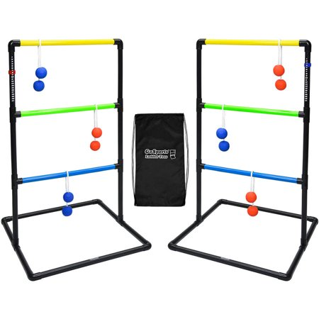 - GoSports Indoor/Outdoor Ladder Toss Game Set with 6 Rubber Bolos, Carrying Case and Score Trackers