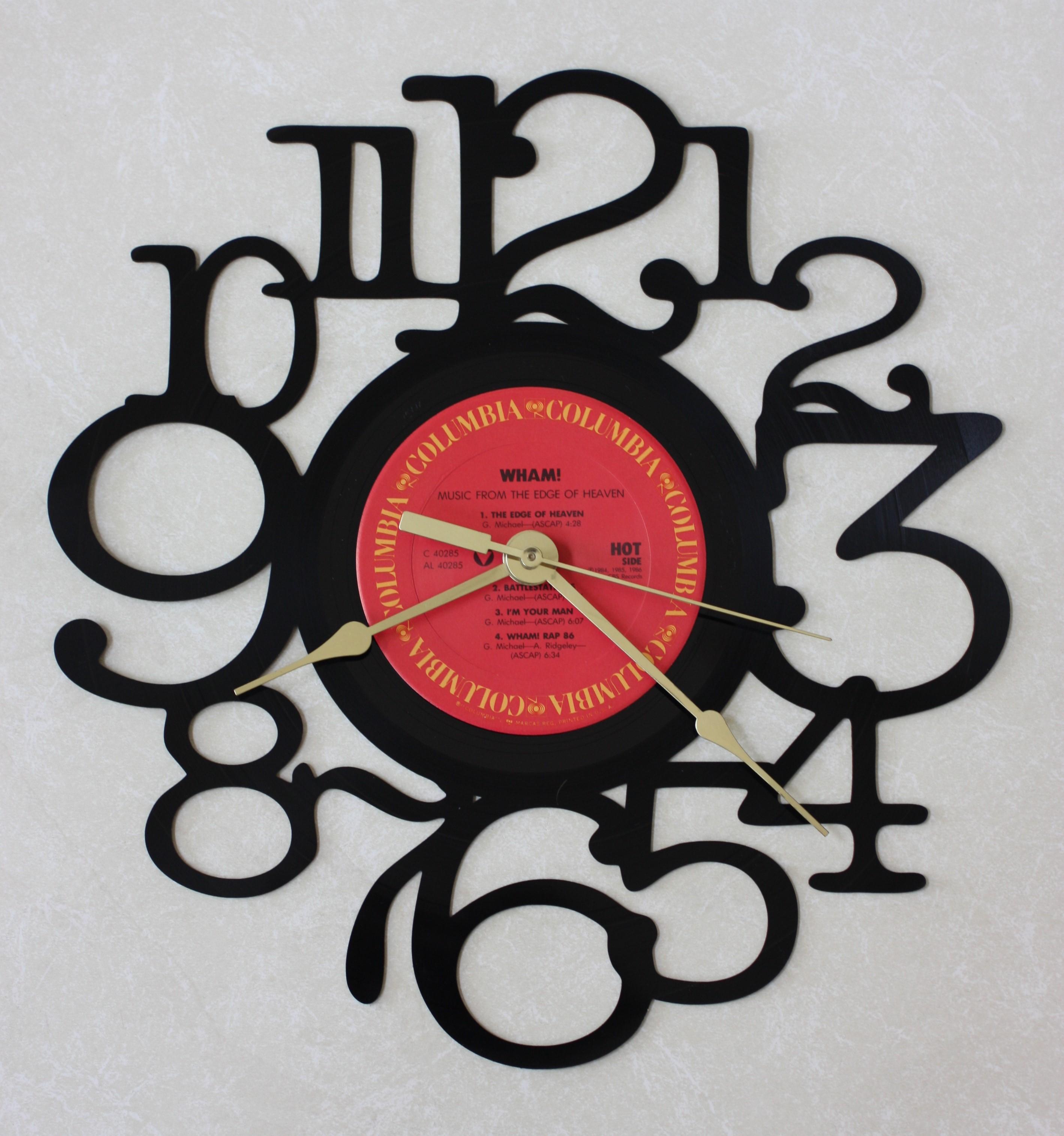 Hockey Vinyl Record Wall Clock Original Gift Handmade Unique Design Decor Home art