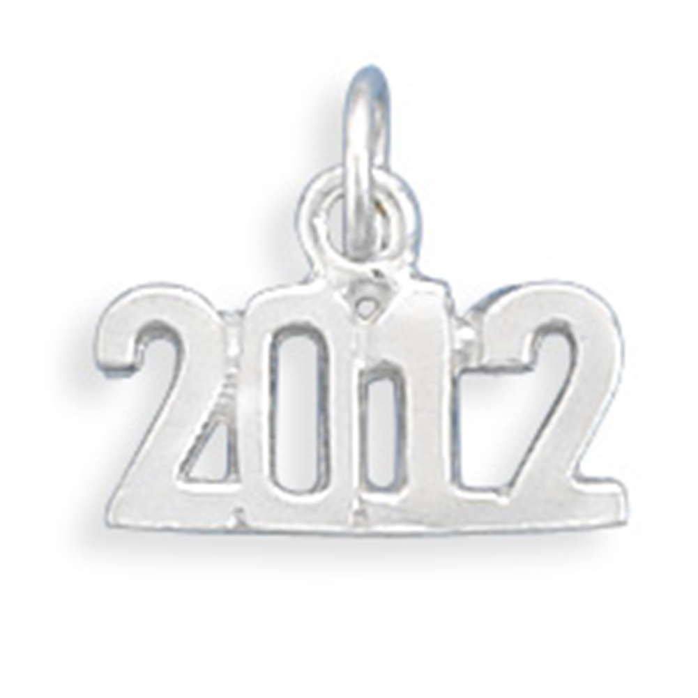 Year 2012 Charm Sterling Silver