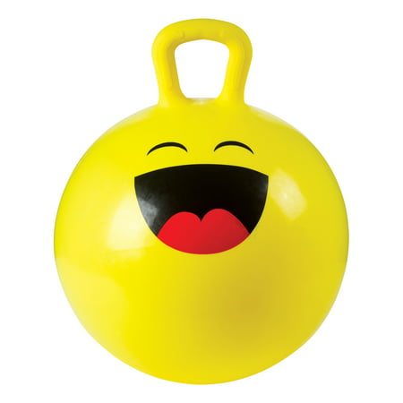 - Toysmith 18In Emoji Hoppy Ball With Pump (Assorted Styles)