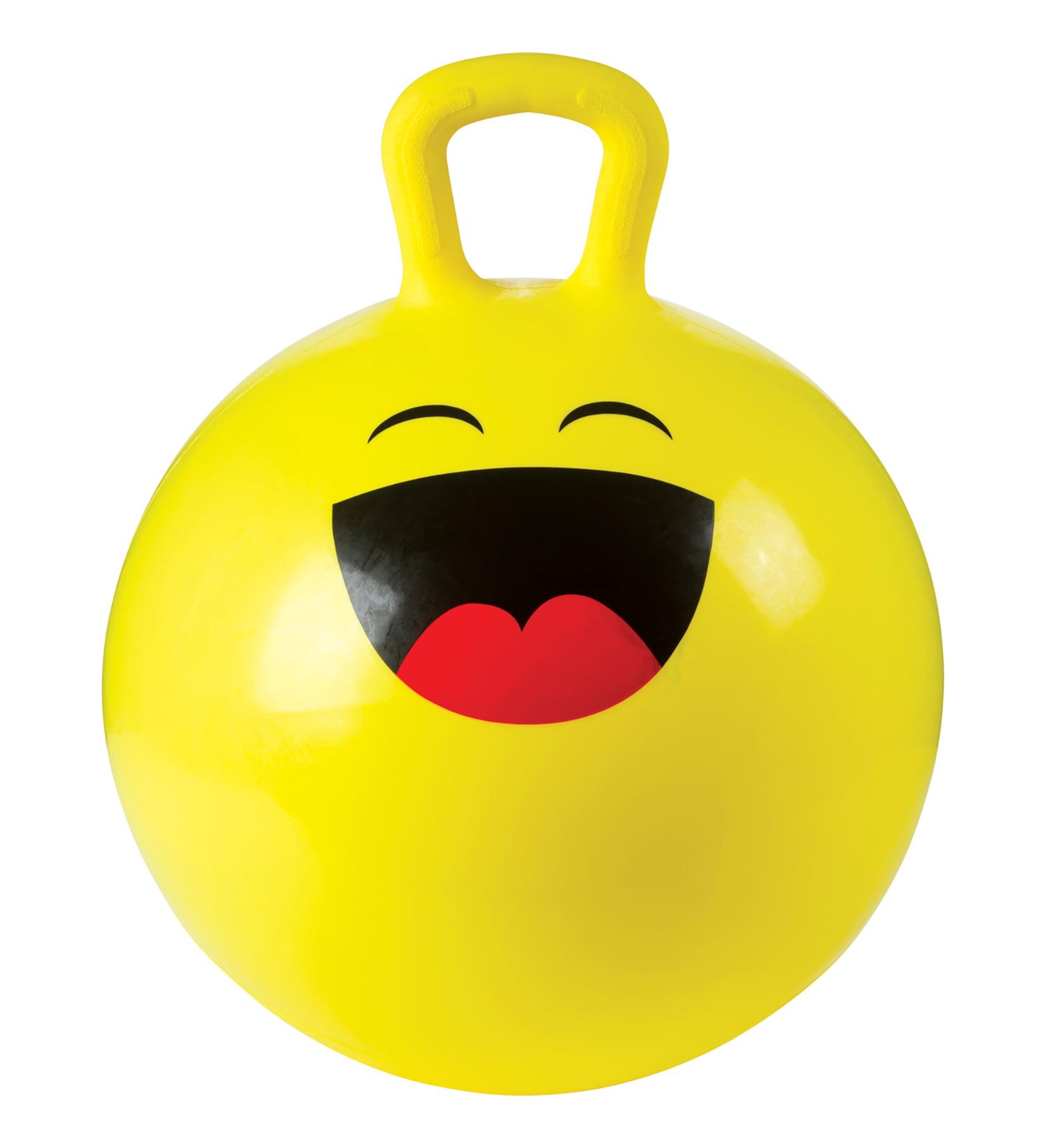 Toysmith 18In Emoji Hoppy Ball With Pump (Assorted Styles)