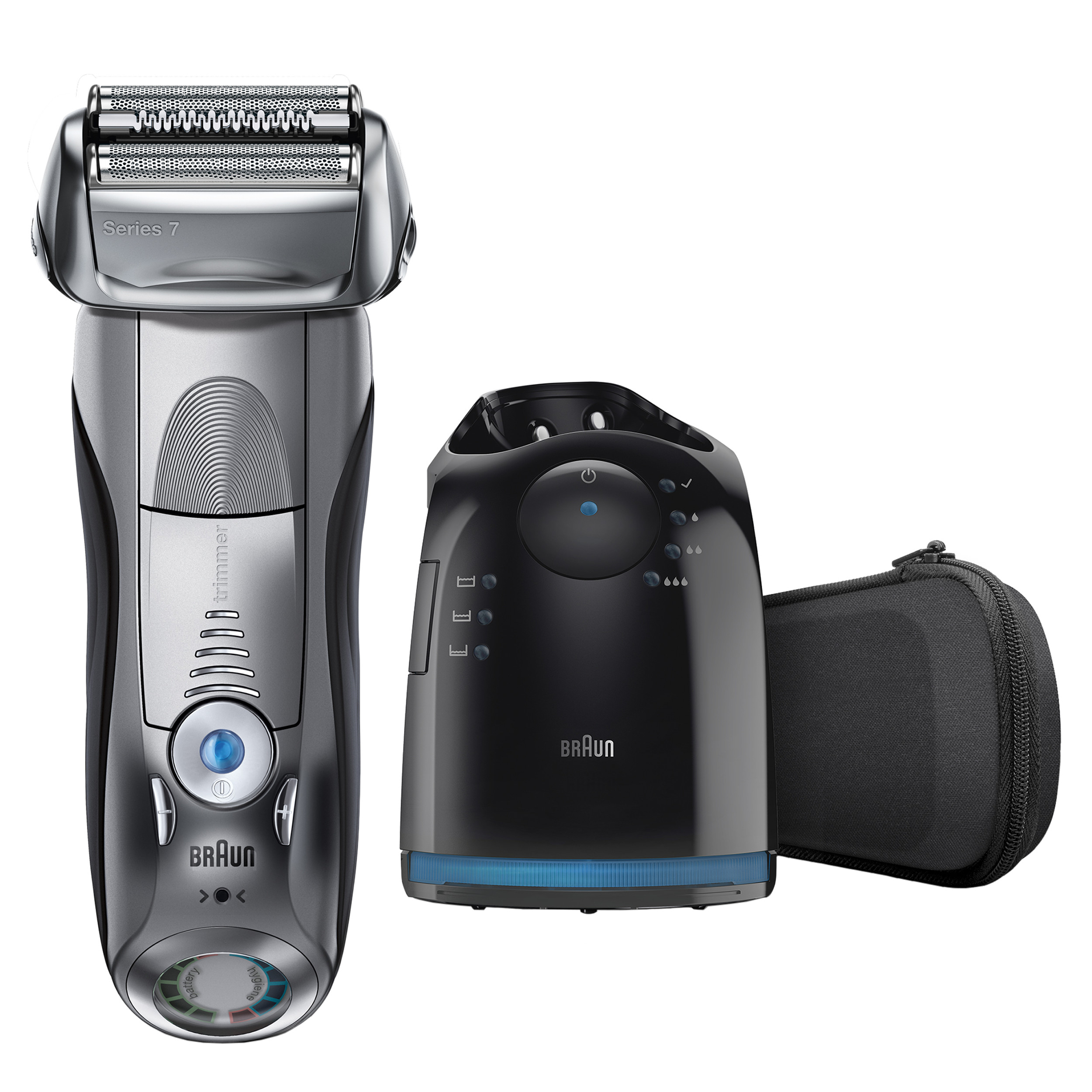 Braun Series 7 790cc Men's Electric Foil Shaver, Rechargeable and Cordless Razor with Clean & Charge Station