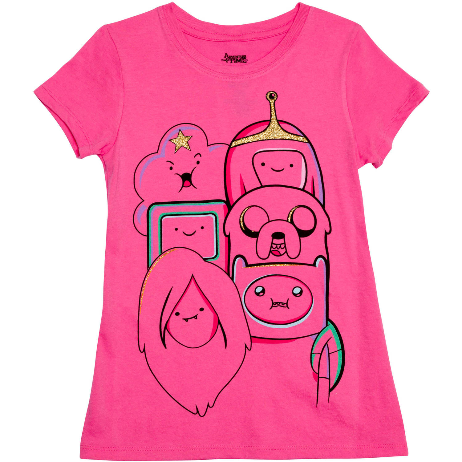 Girls' and Friends Short Sleeve Crew Neck Graphic Tee