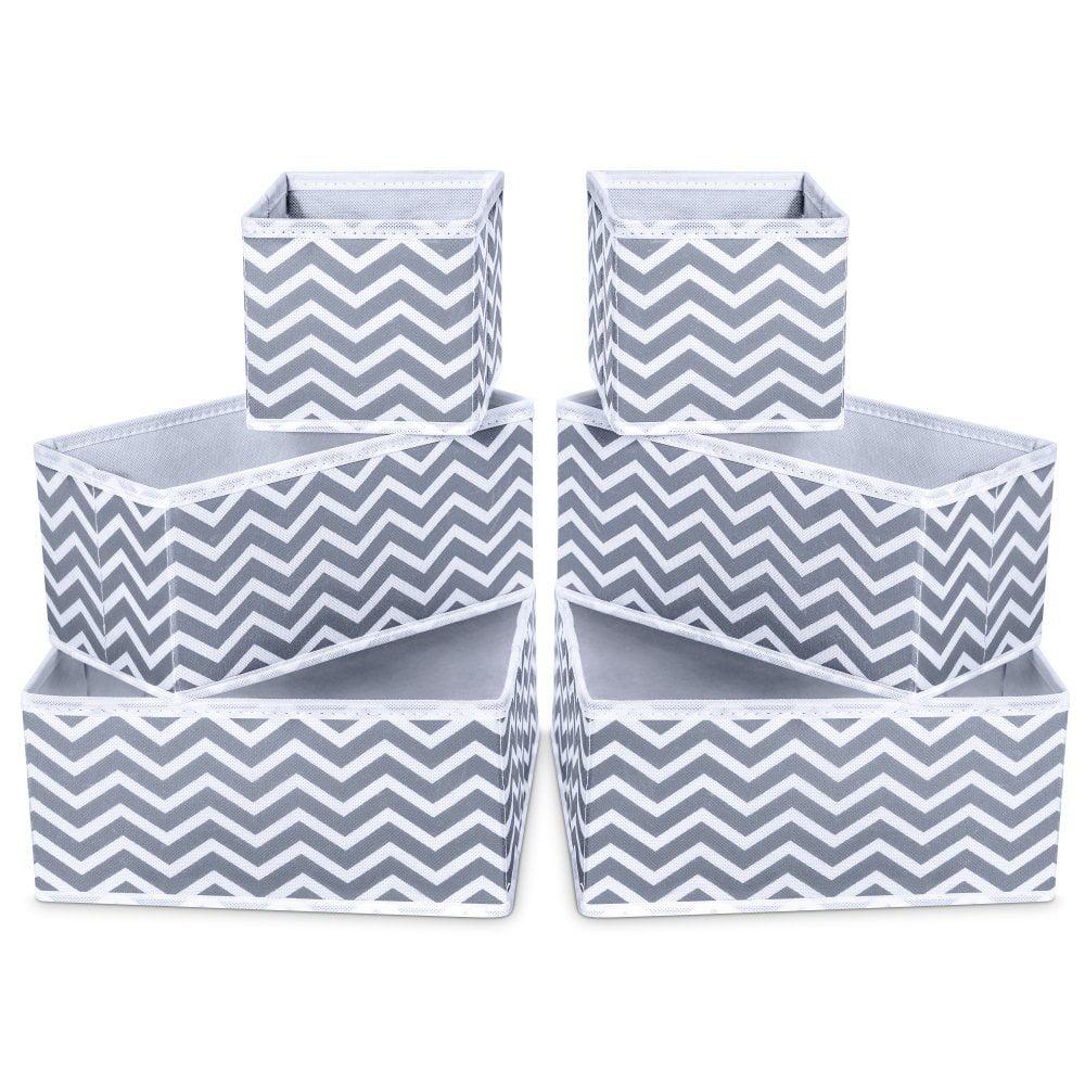 Socks Ties Underwear Decorative Foldable Rectangle Linen Storage Baskets Storage Baskets Bras Wardrobe /& Dressing Table Organizer