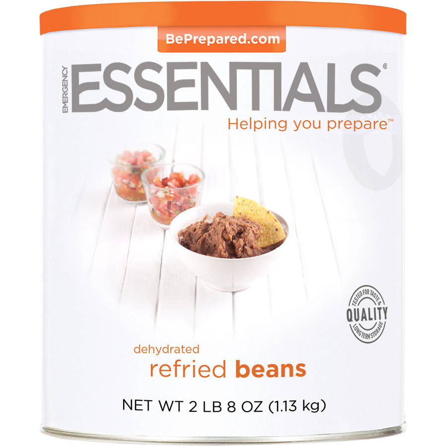 Emergency Essentials Food Dehydrated Refried Beans, 40 oz