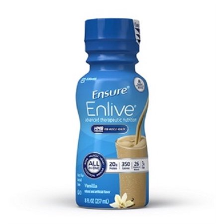 Ensure Enlive Nutritional Shake, Vanilla, 8 Ounce Bottle, Abbott 64286 - Case of 24