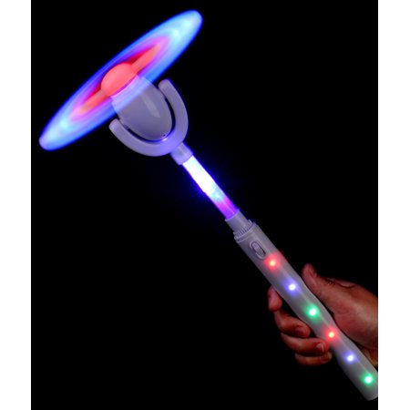 Fun Central (BC676) 1 pc LED Super Windmill Wand, Light Up Wand, LED Magic Wand Toys for Kids, Light Up Toys for Kids](Light Wand Toy)