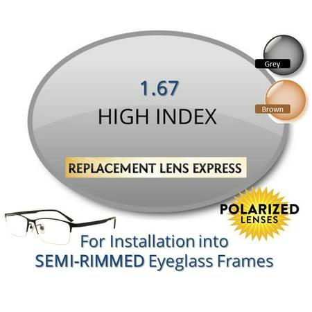 89a6cd9b3e7 Single Vision Polarized High Index 1.67 Prescription Eyeglass Lenses ...