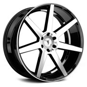 "26"" Inch 6x139.70 Wheel Rim STATUS JOURNEY 26x10 +15mm Gloss Black Machined"