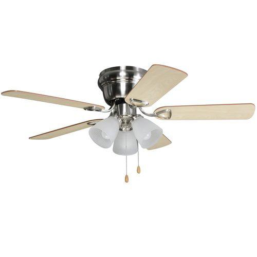 Walmart Ceiling Fans : Chapter quot light satin nickel ceiling fan walmart