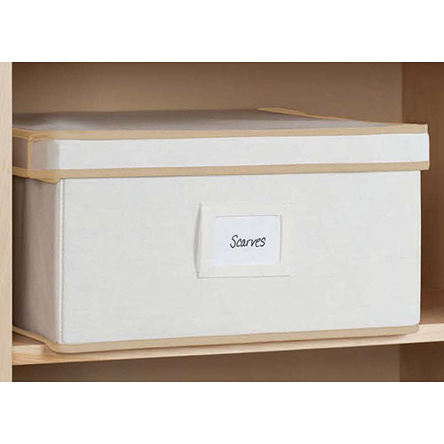 Mainstays 2pk Canvas Lidded Box, Medium