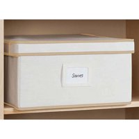 Mainstays 2 pk. Canvas Lidded Boxes, Medium