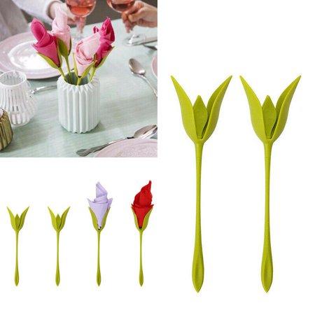 Rose Bloom Napkin Stand Frame Floral Home Decor Flower Design Decoration Paper Towel Roll Napkin Holder for Restaurant Party Dinner