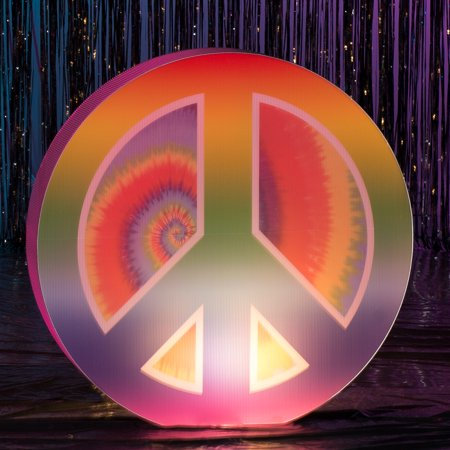 3 ft. 6 in. Through The Decades Lighted Peace Sign