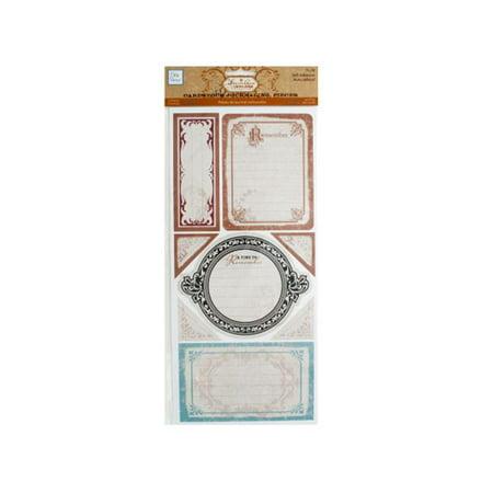 Bulk Buys CG746-48 Timeless Self-Adhesive Cardstock Journaling Pieces
