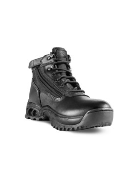 Ridge Footwear Mid-size Tactical Black Leather Zipper Boots - Multiple Sizes