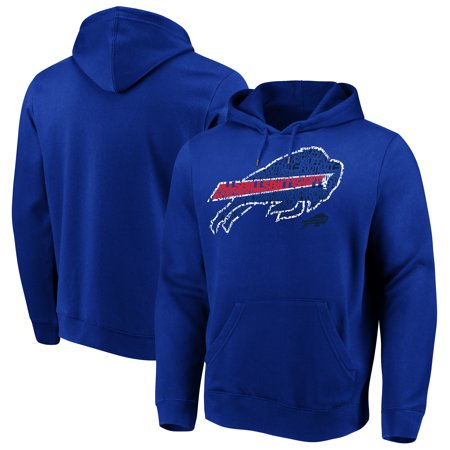 Majestic Line (Buffalo Bills Majestic Line of Scrimmage Pullover Hooded Sweatshirt - Royal)