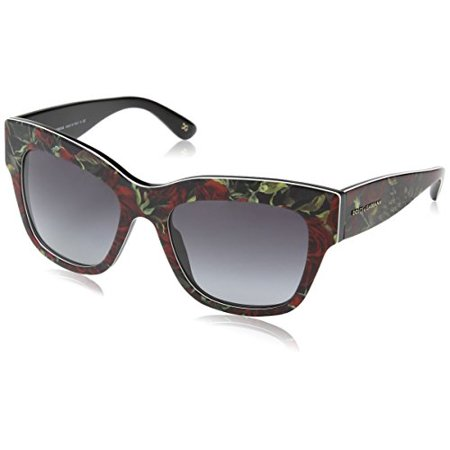 New Dolce Gabbana Sunglasses (Dolce & Gabbana Almond Flowers Sunglasses DG4231 29388G Printing Roses On Black Grey Gradient 54 19 140)