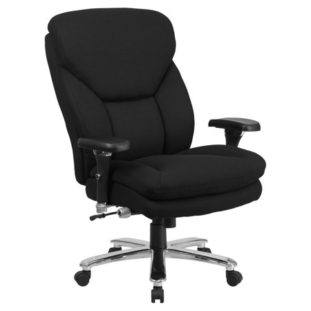 Flash Furniture Hercules Series Big   Tall Fabric Executive Swivel Chair With Lumbar Support Knob