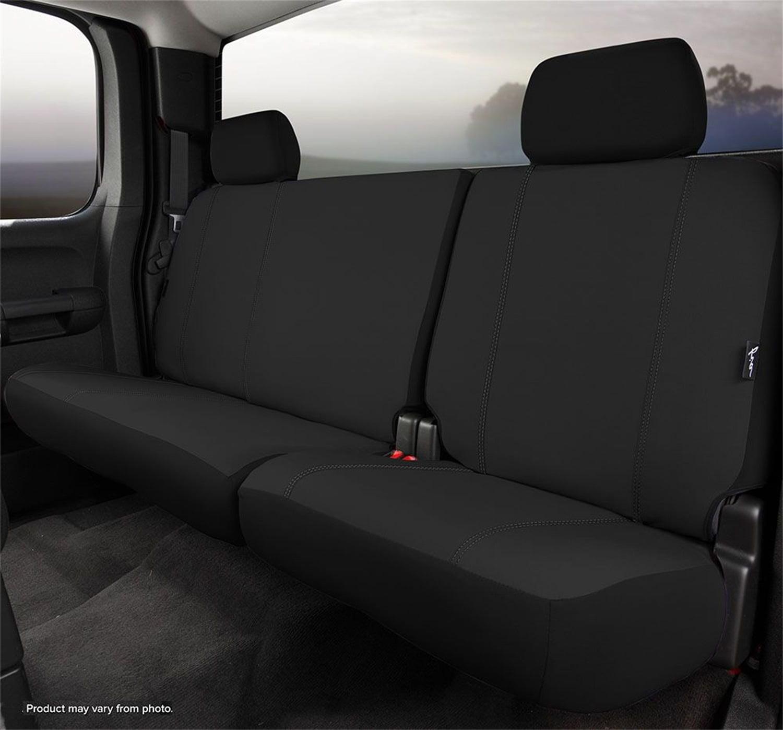 Fia SP82-97 BLACK Custom Fit Rear Seat Cover Split Seat 60//40 Black Poly-Cotton,