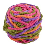 Family Polyester Crochet Handicraft DIY Hat Blanket Scarf Yarn Colorful #2 100g