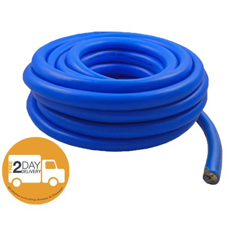 1/0 AWG 0 Gauge 25 Feet High Performance Flexi Amp Power/Ground Cable Wire Blue