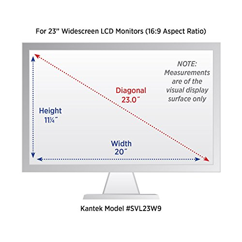 Kantek Secure-View Blackout Privacy Filter for 23-Inch Widescreen LCD Monitors (16:9 Aspect Ratio) (SVL23W9)