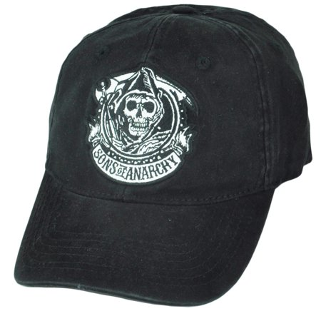 Sons of Anarchy SOA Flex Fit One Size Tv Show Outlaws Relaxed Reaper Hat Cap ()