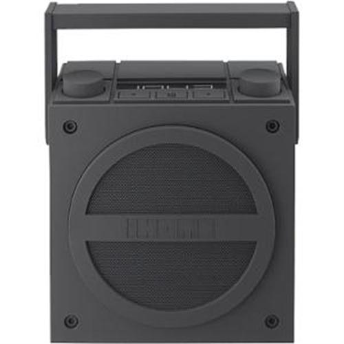 IHOME iBT4WC Rechargeable Bluetooth(R) Boom Box with NFC & FM Radio (White)