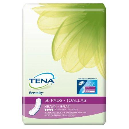 - TENA Serenity Pads Heavy Regular, Economy Case, 3 packs of 56 (168 ct)
