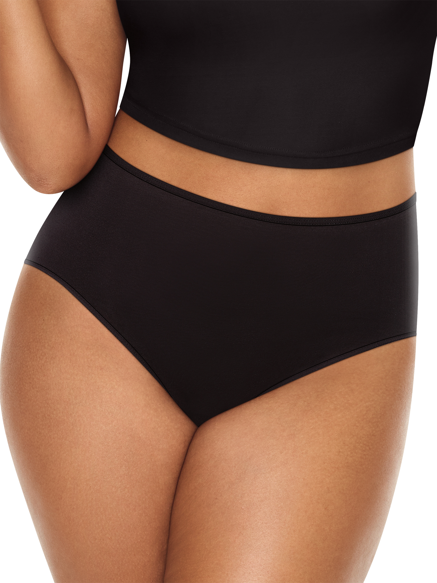Just My Size Womens Microfiber Brief 6-Pack Briefs