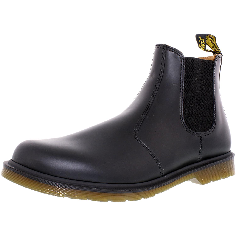 Dr Martens Men's 2976 Chelsea Black Ankle-High Leather Bo...