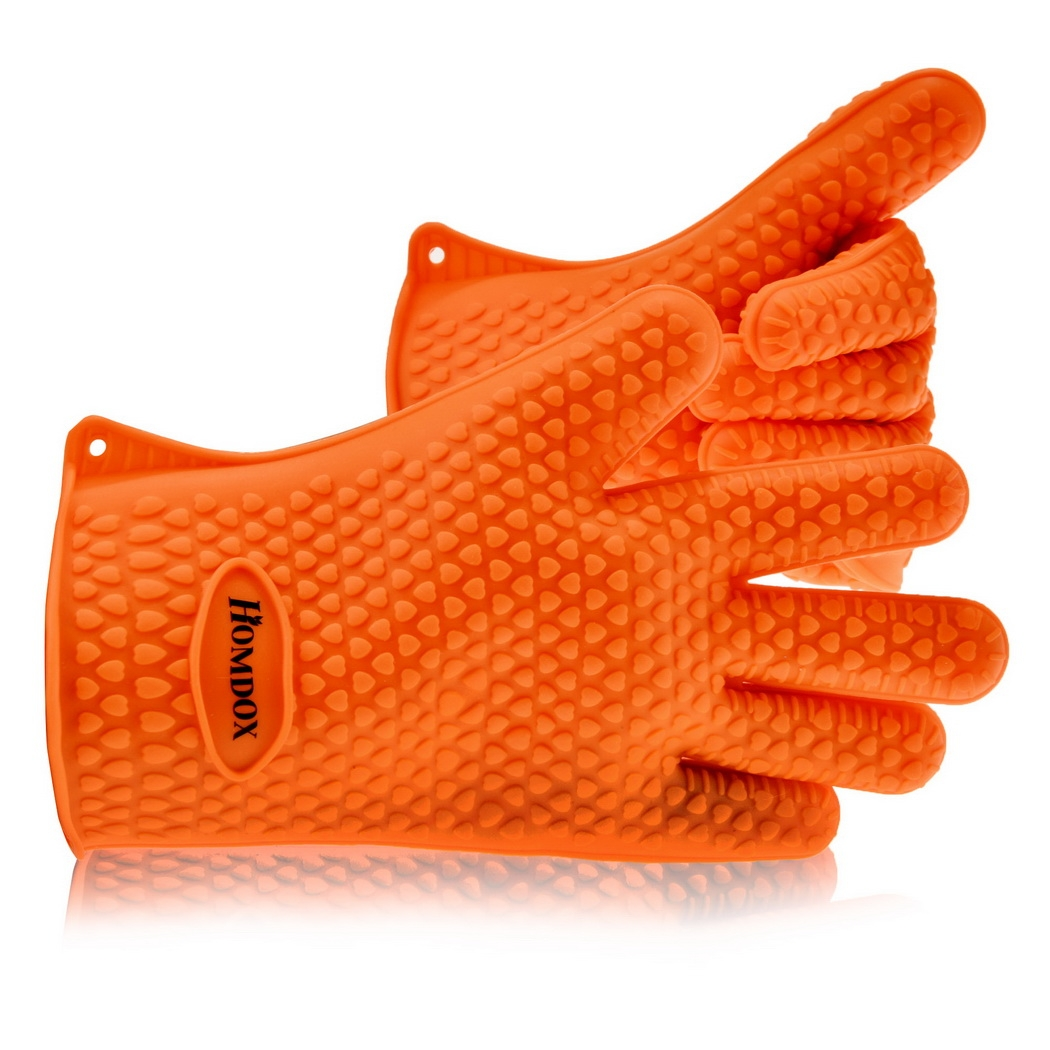 New Home Kitchen Silicone Oven Mitts Heat Resistant Oven BBQ Cooking Glove