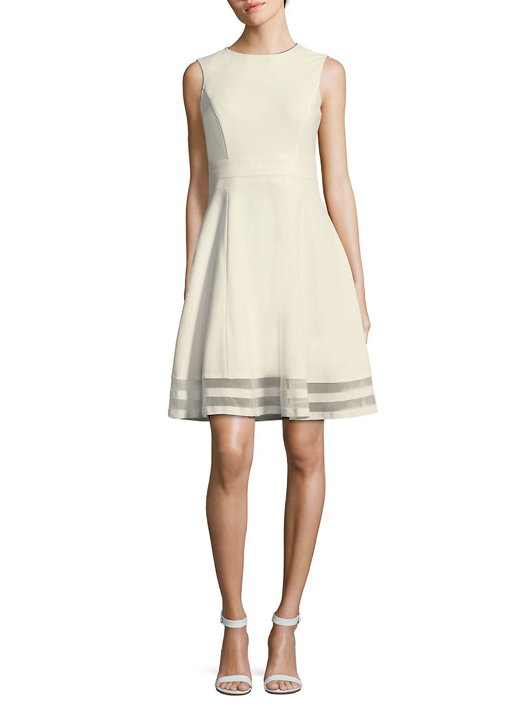Petite Illusion Hem Fit-&-Flare Dress