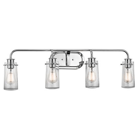 Kichler 45460 Braelyn 4 Light 34 Wide Vanity Bathroom Fixture With Seedy